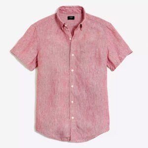 J.Crew Slim short-sleeve 100% Linen Button Down